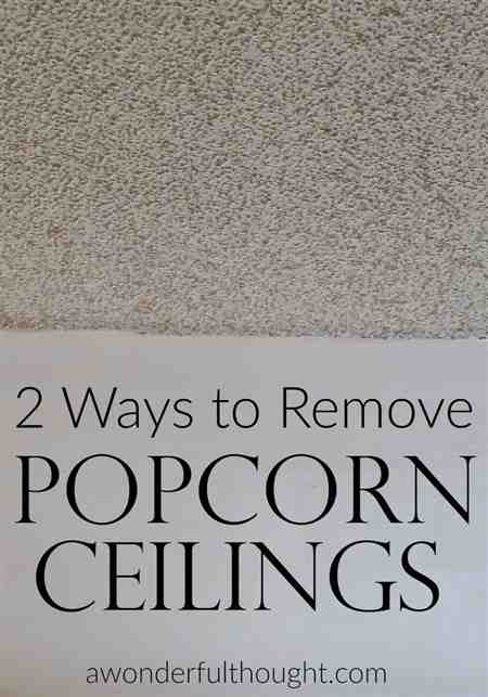 Popcorn Ceilings Removal Cost